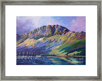 Haystacks  Buttermere Framed Print by John Clark