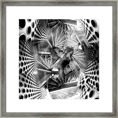 Hazard Stairs Framed Print by Florin Birjoveanu