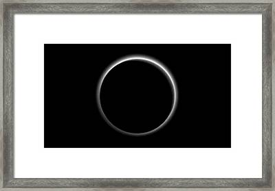 Haze Around Pluto Framed Print