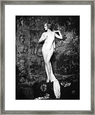 Hazel Forbes Miss United States 1926 Framed Print