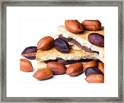 Hazelnuts And Cookies Framed Print by Sinisa Botas