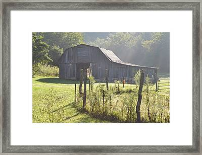 Hazy Barn  Framed Print