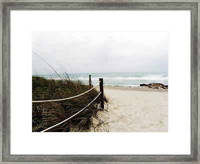 Hazy Beach Day Framed Print