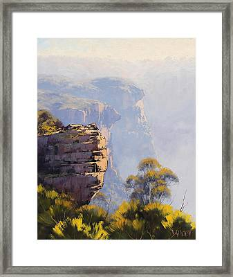 Hazy Cliff-scape Katoomba Framed Print