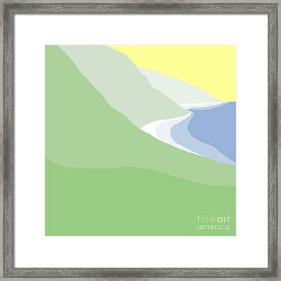 Hazy Coastline Framed Print