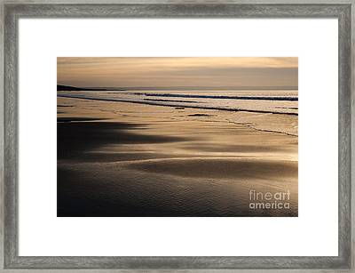 Hazy Croyde Framed Print by Anne Gilbert
