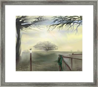 Framed Print featuring the digital art Hazy Day In Texas by Jessica Wright