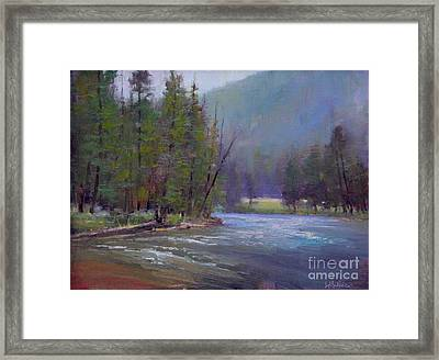 Hazy Day On The Gallatin  Framed Print