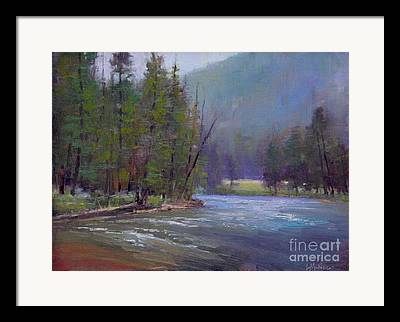 Gallatin River Paintings Framed Prints