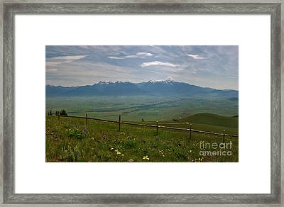 Hazy Day Over The Flathead Valley Framed Print by Charles Kozierok