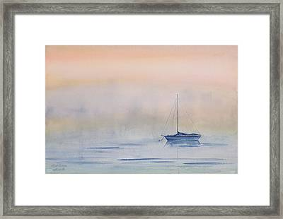 Hazy Day Watercolor Painting Framed Print by Michelle Wiarda