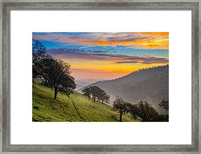 Hazy East Bay Sunrise Framed Print