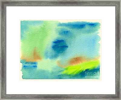 Hazy Forest II Framed Print by Beverly Claire Kaiya