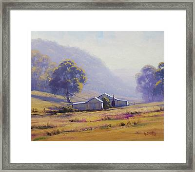 Hazy Morning Framed Print