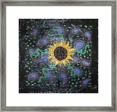 Hazy Paisley  Framed Print by Yvonne  Kroupa