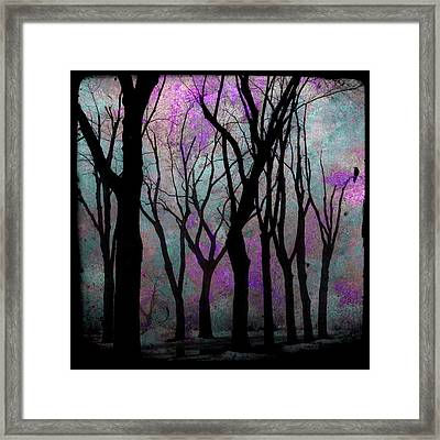 Hazy Purple Framed Print