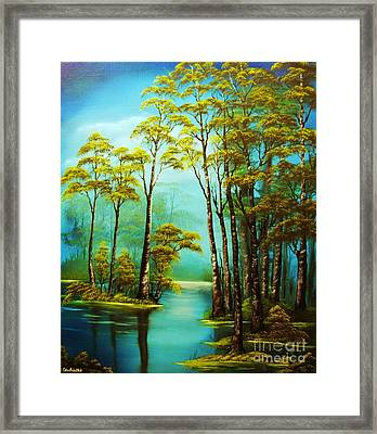 Hazy Reflections-original Sold- Buy Giclee Print Nr 34 Of Limited Edition Of 40 Prints  Framed Print