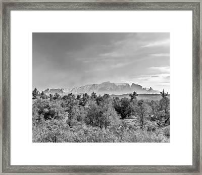 Hazy Sedona Bluffs Framed Print