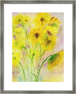 Hazy Summer Framed Print