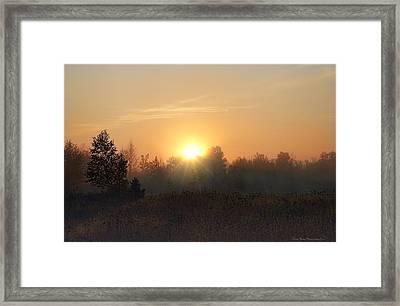Hazy Sunrise Framed Print