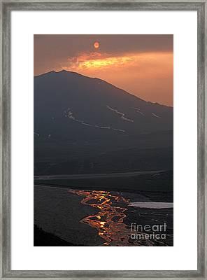 Hazy Sunrise Framed Print by Ron Sanford