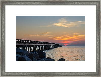 Framed Print featuring the photograph Hazy Sunset by Gregg Southard