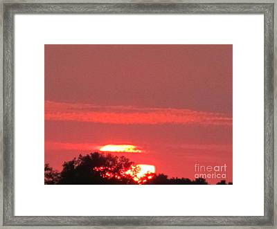 Framed Print featuring the photograph Hazy Sunset by Tina M Wenger