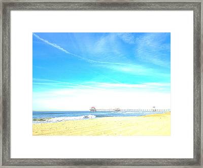 Framed Print featuring the photograph Hb Pier 7 by Margie Amberge