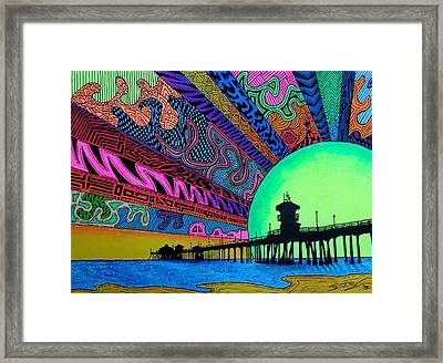 Hbdazzle Framed Print by Sam Bernal