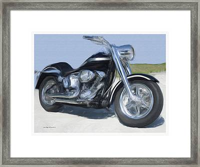 Hd 100th Anniversary Custom Fatboy Framed Print