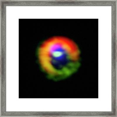 Hd 142527 Star Framed Print by Alma (eso/naoj/nrao), S. Casassus Et Al