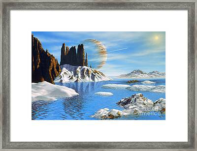 Hd 222582 B And Moon Framed Print by Lynette Cook