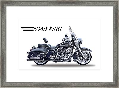 H D Road King Framed Print by Daniel Hagerman