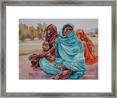 Hdndoh Eastern Sudan Framed Print by Mohamed Fadul