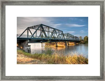 Hdr - Lincoln Ave. Bridge Framed Print
