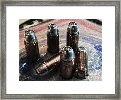 Hdr 32 Caliber Bullet Art 1a Framed Print by Lesa Fine