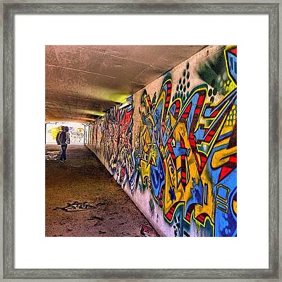 #hdr #colour #graffiti #steampunk #art Framed Print by Debby Champion