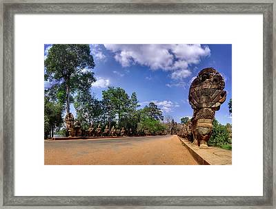 Framed Print featuring the photograph Hdr - Hi-res - Ancient Asia Civilization Monuments In Angkor Wat Cambodia by Afrison Ma