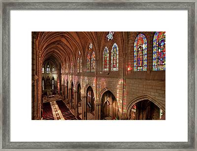Hdr Image Of The Basilica Interior Framed Print by Brent Bergherm