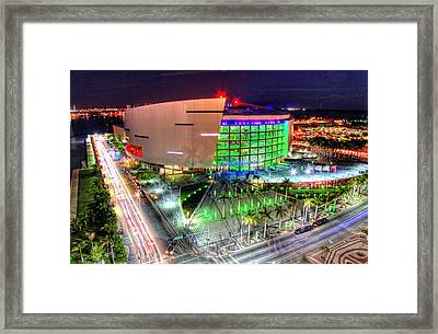 Hdr Of American Airlines Arena Framed Print