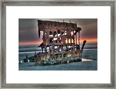Hdr Peter Iredale Framed Print by James Hammond