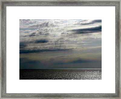 Hdr Storm Over The Water  Framed Print by Joseph Baril
