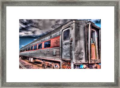 Hdr Train Framed Print by DH Visions Photography