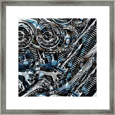 Abstract V-twin Framed Print