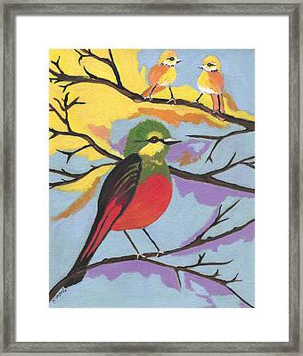 Framed Print featuring the painting He Aint That Tweet by Kathleen Sartoris