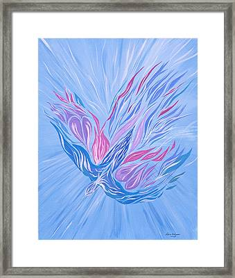 Framed Print featuring the painting He Brings Healing by Lula Adams