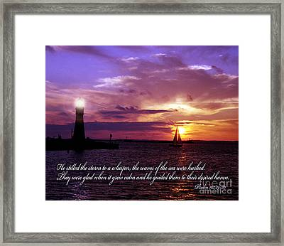 He Calms The Storm Framed Print by Tom Brickhouse
