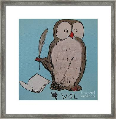 He Can Write And Read Framed Print