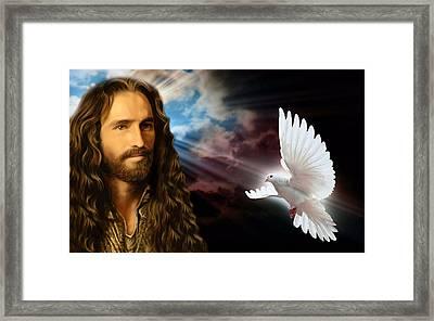 He Cares For Us Framed Print