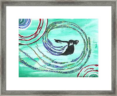He Comes In The Wind Framed Print
